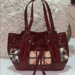 Patent leather Burberry bag